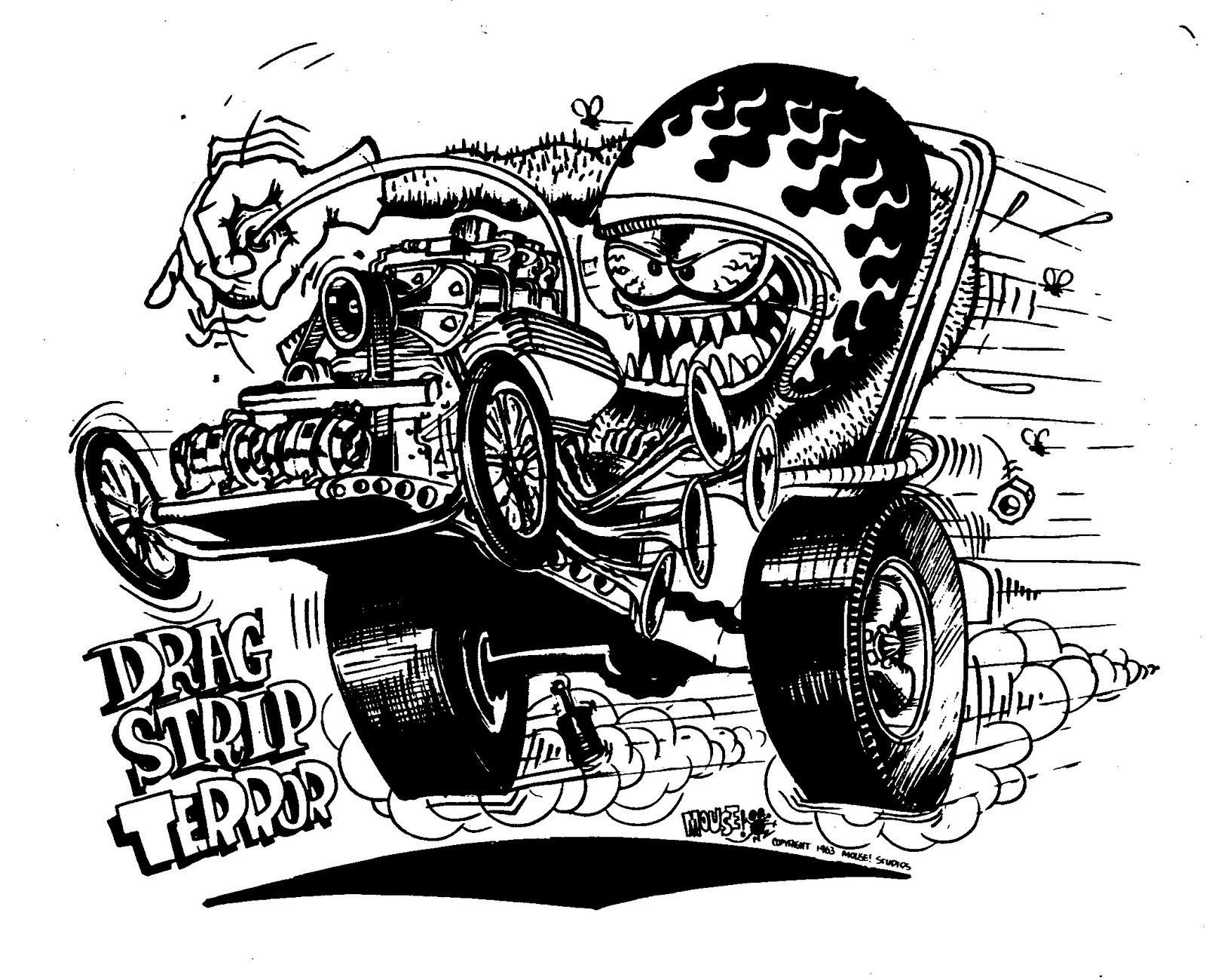 Mudfoot Stanley Mouse Hot Rod T Shirts